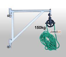 Set 3tlg Gerüstarm Gerüstaufzug Bauaufzug + Umlenkrolle + 20m Seil Flaschenzug