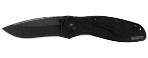 Kershaw Blur Folder Knife Black Aluminum Handle Blck Stonewash Plain Edge 1670BW