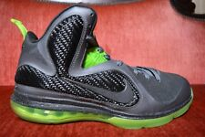 size 40 6cbba 9f057 New listing Nike Air LEBRON 9 IX Dark Grey Black-Volt Dunkman 469764 006  Size 11 Green