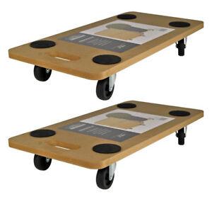 2 x Transportroller 58x29 Rollbrett Transportbrett Möbelroller Transporter