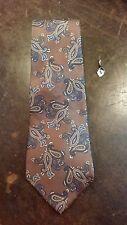Don Loper Brown Blue Paisley Designer Mens Necktie Free Shipping