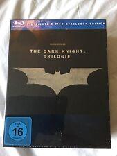 The Dark Knight Trilogy Steelbook, German import, region free