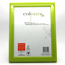 """750 x 8x6""""/20x15cm High Gloss Lime Green Picture Frames Bulk Wholesale Carboot"""