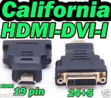 HDMI Male 19 Pin to DVI-I Female 24+5 Adapter Converter HDMI to DVI I M to F