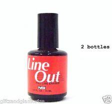 NSI NAIL Tips Line Out Fill Line Eraser - tip blender .5oz/15mL ~2ct~