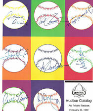 1992 Joe Robbie Stadium Auction Catalog multi Auto Curt Flood Tommie Agee coa