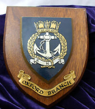 VINTAGE RARE Wooden Royal Navy Association Plaque OXFORD BRANCH