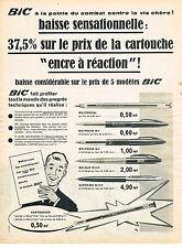 PUBLICITE ADVERTISING  1960   BIC   stylo à pointe