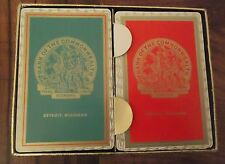vintage Detroit Michigan Bank of the Commonwealth 2 Decks Playing Cards in box