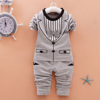 Baby boys clothes infant toddler kids 2Pcs Outfits pullover top& pants gentleman