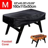 Tischfußball Abdeckung 300D M Abdeckplane Tischkicker Haube Schutzhülle Schwarz