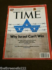 TIME MAGAZINE - WHY ISRAEL CAN'T WIN - JAN 19 2009