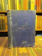 1869 Hill POEMS Antique Book Rare Old Book Raleigh North Carolina Southern Poet