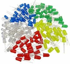 100x 5mm White Green Red Blue Yellow LED Light Bulb Bright Diode Diffused