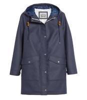 Levi's Water Repellent Hooded Raincoat Navy Jacket Women's Sz S MSRP $180.00 NEW