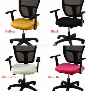 Multicolour Velvet Office Chairs Cushion Cover Stretch Protector Slipcover 2pcs