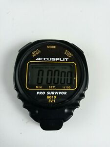 ACCUSPLIT Pro Survivor 601x 3V-Stop Watch Nice!