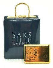 Saks Fifth Avenue Bag w/ Gold Card Limoges Box Retired
