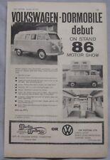 1961 VW Camper Original advert No.1