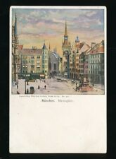 Germany MUNCHEN Munich Marienplatz c1902 u/b vignette PPC