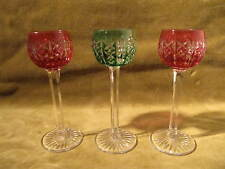 3 verres liqueur cristal overlay saint louis riesling crystal liquor glasses