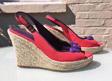 Boden Pink & Purple Wedges - Jewels - Canvas & Leather - Eu 41 / UK 7.5 - VGC