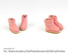 Macaroon Snow boots_RED for Blythe / DAL / Pullip / Momoko/ Lati_y/Pukifee