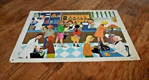Vintage French Educational School Poster 74 x 54cm NICE CARNIVAL SUPERMARKET