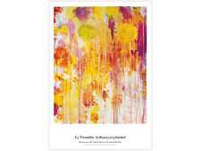 Cy Twombly Original Exhibition Poster Bright and Colorful Art