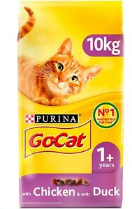 ADULT Chicken & Duck Dry Cat Food to promote a good digestion, 10 kg