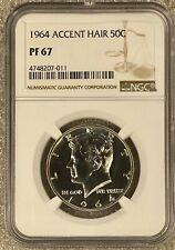 1964 50c Accent Hair Kennedy NGC PF67 (7011)