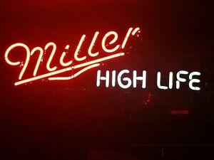 vintage miller high life neon sign gas tube sign