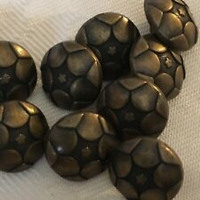 10 X 12 mm botones de metal de color bronce ex John Lewis #829