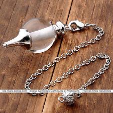 ésotérisme pendule divinatoire pour voyance pierre naturelle Quartz transparent