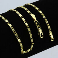 Charm Gold 18K Stainless Steel 2.5mm Gold Rope Chain Necklace Men Women Gift New