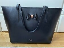 Ted Baker Black Leather Tote Bag (Large) Good Condition Shopper Bag & Authenic