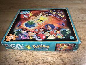 Vintage 1999 Pokemon Jigsaw Puzzle 60 Piece MB Pikachu Retro Complete Pokeball
