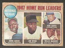 Hank Aaron, Willie McCovey, Santo, Wynn 1968 Topps Venezuela #5 Rare *Set Break
