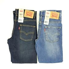 Boys Size 7X Levi's 511 Jeans; Adjustable Waist;  Dark or Medium Wash; Slim Fit
