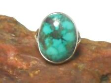 Oval  TURQUOISE   Sterling  Silver   925  Gemstone  RING  -  Size: O