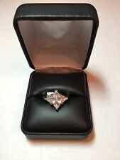 ring size 7 New tag Nwt Marquis cubic zirconia silver tone engagement promise