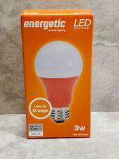 Energetic Smart Lighting ((Orange) 3 W Indoor Bulb A-19