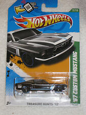 NEW 2012 Mattel Hot Wheels Treasure Hunts #57 /247 Black '67 Custom Mustang 7/15