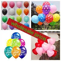WHOLESALE BALLOONS 100-500 Latex BULK PRICE JOB LOT Quality Any Occasion BALLONS