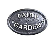 SILVER FAIRY GARDEN SIGNS PLAQUE - FENCE WALL FOR YOUR SECRET FRIENDS - NEW