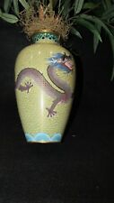 VINTAGE ENAMELED CLOISONNE DECORATIVE VASE
