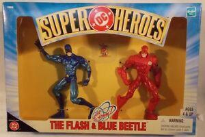 DC Comics Superheroes TV The Flash, Blue Beetle & The Atom Justice League (MISB)