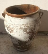 Vintage Terracotta Pot White Washed From Andalucia, Spain
