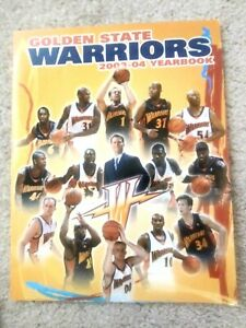 VERY RARE Golden State Warriors 2003-04 Men's Basketball Yearbook INFO GUIDE