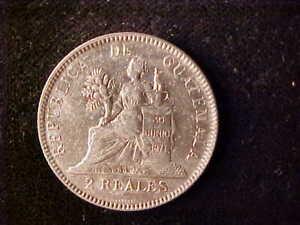 GUATEMALA 2 REALES 1895
